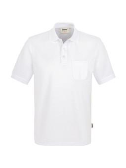 HAKRO Pocket-Poloshirt Performance Weiß, Herren YHA-812-11